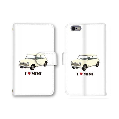 【ノーブランド品】 AQUOS PHONE Xx mini 303SH スマホケース 手帳型 車 イラスト カー ミニ クリーム かわいい おしゃれ 携帯カバー 303SH ケース 携帯ケース アクオスフォン