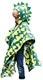 Kids Car Seat Poncho Green Dinosaur Warm Blanket Safe Use Over...