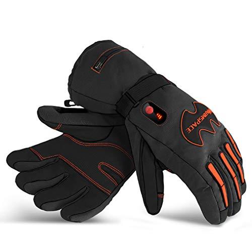 HSYD Motorradhandschuhe mit Heizung, beheizbare Handschuhe, Innenhandschuhe mit Heizung, 3 Stufen zur Temperatureinstellung, Schwarz L