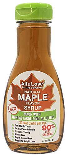 Allulose - Natural Maple Flavored Allulose Syrup, 11.75oz bottle - All-u-Lose