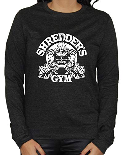 Artshirt Factory Shredder ́s Gym Girlie Sweater Negro Jaspeado XL