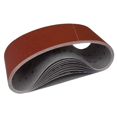10 Gewebe Schleifbänder 100 x 914 Korn 80