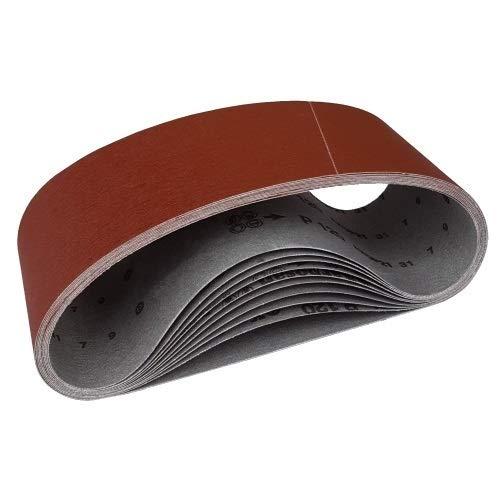 10 Gewebe Schleifbänder 75 x 480 Korn 120