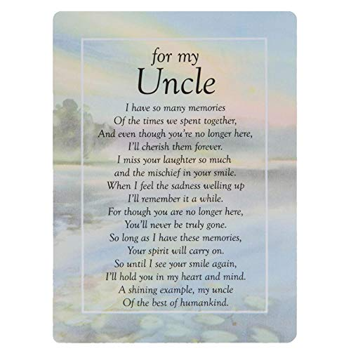 Widdle Celebrations For my Uncle Graveside Memorial Card – TY205