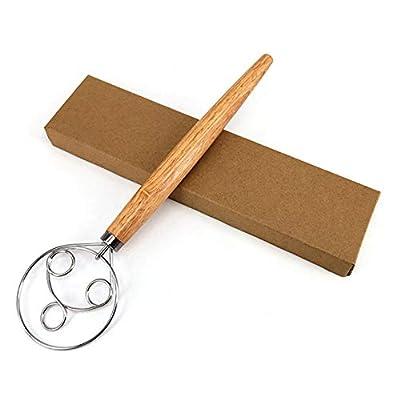 New Wooden Handle Whisk Flour Coil Stirrer EggBeater 16022021113206