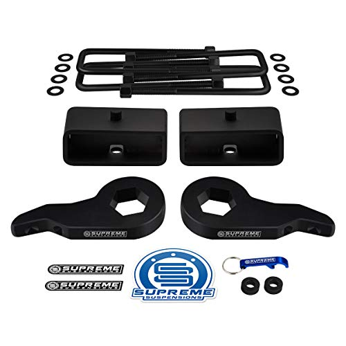 Supreme Suspensions - Full Lift Kit for Tahoe/Suburban/Yukon / K1500 Adjustable 1' to 3' Front...