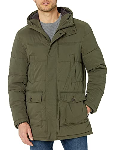Dockers Parka larga con capucha Microsarga para hombre - verde - X-Large