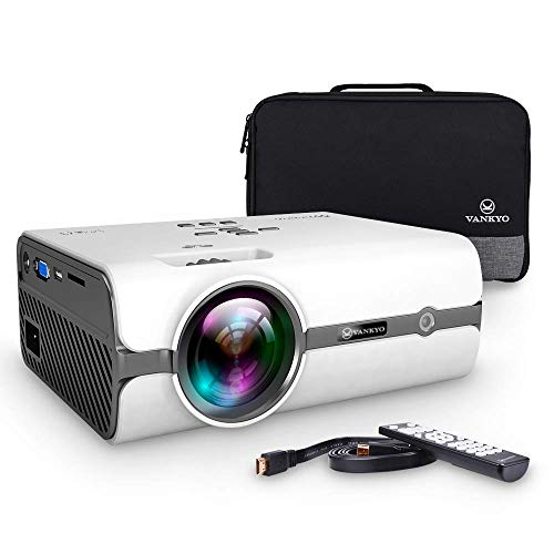 VANKYO Leisure 410 Mini Projector with Carrying Bag and HDMI Cable, Portable Projector Supports 1080P, Compatible with PS3/PS4 TV Stick, PS4, HDMI, VGA, TF, AV and USB
