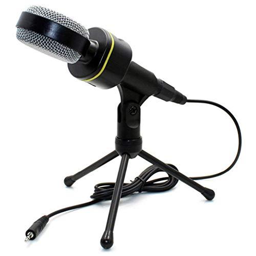 SCDZS Micrófono de grabación de Condensador con micrófono de Soporte para PC Teléfono móvil Barra de Canto en Vivo Karaoke Laptop