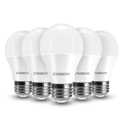 E27 LED Lampe, STANBOW 9W Glühlampe Ersetzt 60W Glühbirne, A60 Leuchtmittel, 800 Lumen 3000 Kelvin Warmweiß Sparglühbirnen, 5 Stück [Energieklasse A+]