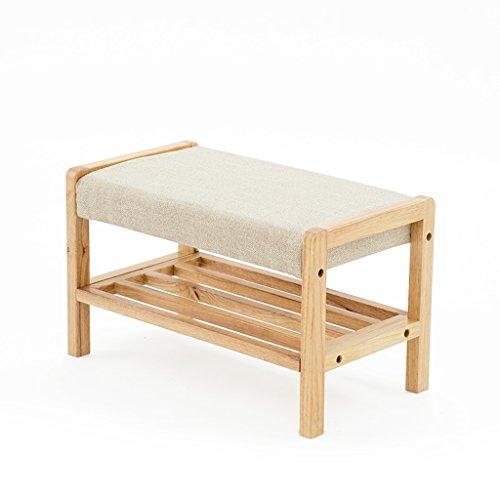 PLL Massief houten schommel-schoen met dubbele dekenschoenenkast, creatieve geheugen-stoel