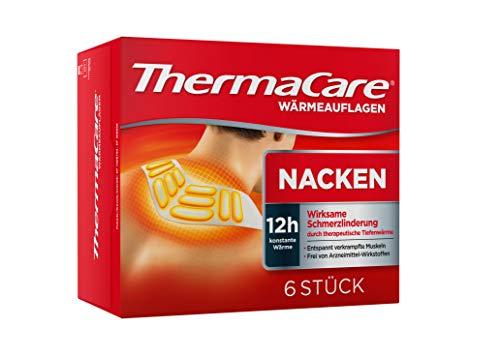 ThermaCare Nackenumschläge – Wärmeumschläge für Schulter & Nacken zur Linderung von Nackenschmerzen – Tiefenwärme zum Entspannen & Lockern der Muskeln – 6 Stück pro Packung