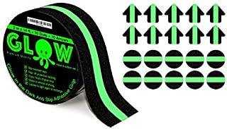 Anti-Slip Glow in The Dark Grip Tape - Non-Slip Adhesive Grip for Slippery Suerfaces, Stairs, Rails, Steps, Gaffers, Tread...