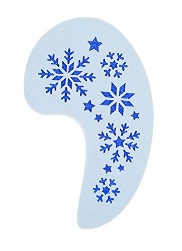 Frozen Large Snowflakes Face Painting Stencil approx 12cm x 8cm Washable and Reusable