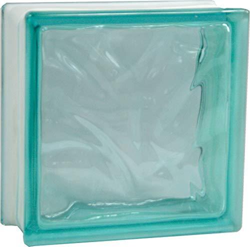 5 Stück FUCHS Glassteine Wolke Türkis 19x19x8 cm