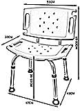 KRXLL Silla de Ducha Taburete de baño Asiento de Ducha Senior/Discapacitado/Mujer Embarazada Ayuda Segura para el baño (Color: Blanco)-Azul