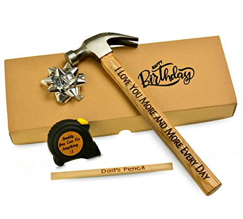 Personalised Engraved Hammer DIY Dad Tool Gift for Him Grandad Fathers Gift