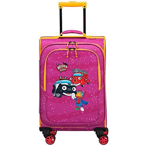 Travelite Robuste, fröhliche Kinderkoffer und Gepäckstücke Helden der Stadt machen jede Reise zum Abenteuer Kindergepäck, 34 Liter, Pink