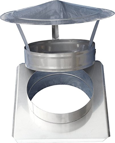 Chimney Rain Cover Made From V4A Stainless Steel with Plate Flue Pipe Diameter 140mm