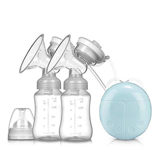 Why Choose Breast pump Electric Breast Pump Breastfeeding Pump Portable Rechargeable Smart Automatic Milking Machine Milking Bilateral Breast Pump Double Electric Breast Pump ( Color : Blue , Size : One size )