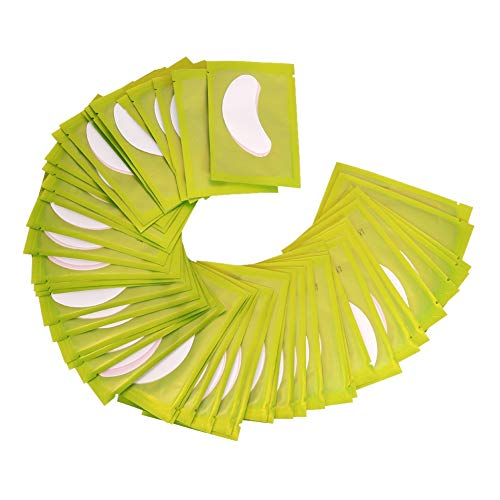 Ruiqas 50 Paar/Set Gepfropftes Wimpernverlängerungshydrogel unter Augengelpad Patch Maske Aufkleber Klebeband Grün