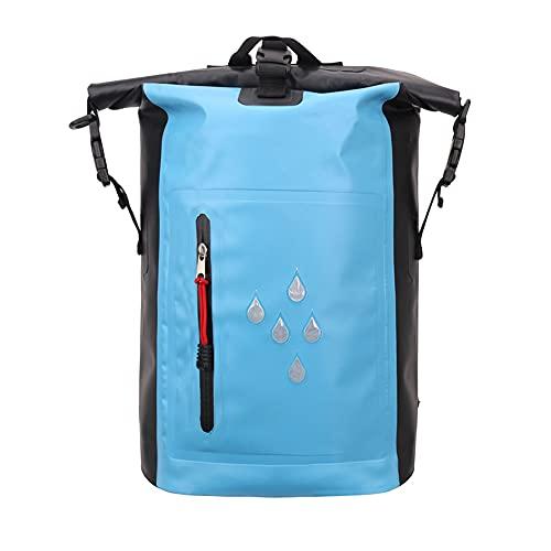 Mochila Impermeable, Bolsa de natación con Correas Ajustables para el Hombro, para Nadar en la Playa Kayaking Senderismo canotaje piragüismo Pesca de Surf,Azul