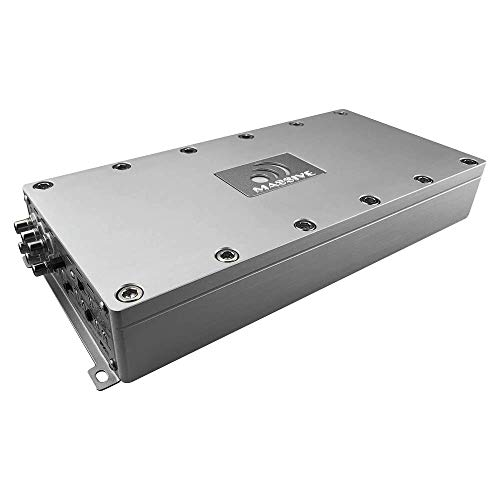 Massive Audio PX6-180 W x 6 @ 2 Ohm, 350 W x 3 @ 4 Ohm Puente, amplificador de 6 canales, ATO integrado, clip frontal y trasero LED