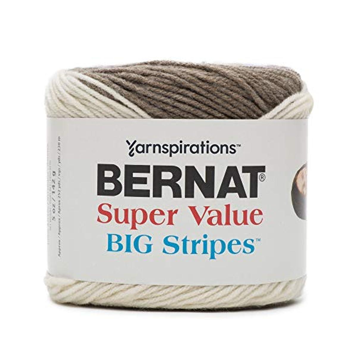 Bernat Super Value Big Stripes Yarn, 5 oz, Chambray, 1 Ball
