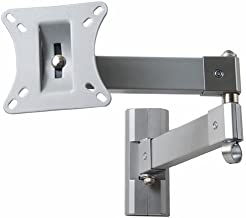 VideoSecu Articulating Monitor TV Wall Mount for 15 - 39 Display with VESA 75x75, 100x100-Extends 20-Silver 1UT