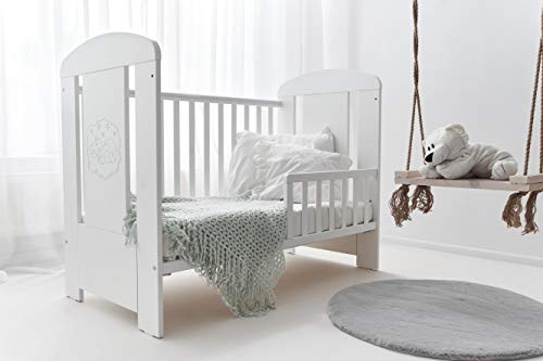 Set of Cot Bed/Toddler Bed Teddy Premium + Chest of Drawer + Changing Table