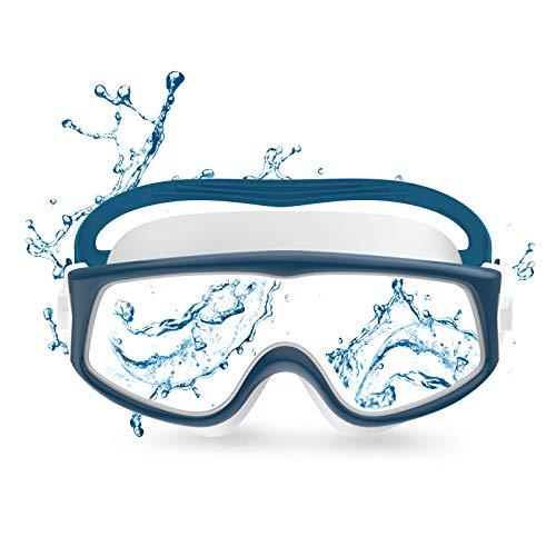 Funní Día Occhiali da nuoto per visione panoramica, anti perdita, anti-appannamento, protezione UV, per adulti, uomini, donne, ragazzi CF-16006