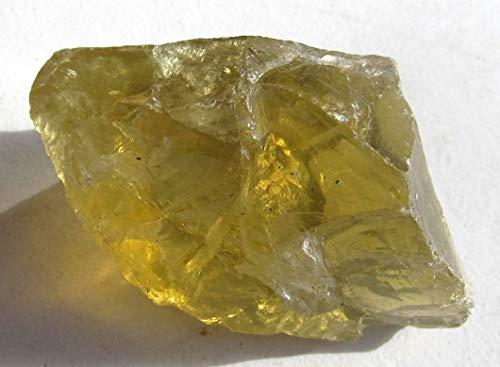 Brasilianit, Lemontin, Rohstein, Flacher, transparenter Edelstein 125,3 Ct.