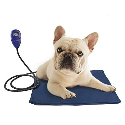 namsan Calefacción Cojín para mascotas con Anti de picada de alambre Cómodo calientes Pad A Small Medium Dog Temperatura Regulable de 25a 55, color azul