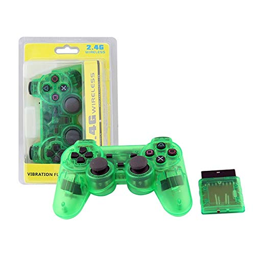 XIWAN for Sony PS2 Wireless Controller Bluetooth Gamepad for Play Station 2 Joystick-Konsole for Dualshock 2 Transparente Farbe (Color : K)