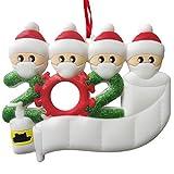 JFAN Decorazioni Natalizie 2020 Kit Ornamenti Appesi con Nome Scrivibile Personalizzato Natalizio Regali di Natale Personalizzati per Famiglia e Amici