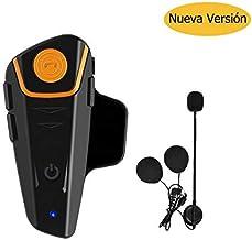 Auriculares Bluetooth para Motocicleta, 1000 m, con Sistema de comunicación Bluetooth, para Casco de esquí, intercomunicador Bluetooth, walkie-Talkie para Moto de Nieve, hasta 3 Conductores