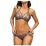 Berimaterry Bikini Mujer Conjuntos Brasileño Sexy Tanga Mujer Playa Ropa de Baño Traje de Baño Sexy Bañador de Baño Tops y Braguitas 2 Piezas Verano Monokini Bañador Natación Fiesta Piscina