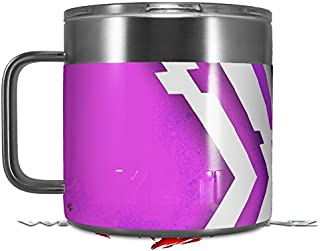 71e9a8ce2c4 Skin Decal Wrap for Yeti Coffee Mug 14oz Black Waves Neon Teal Hot Pink - 14
