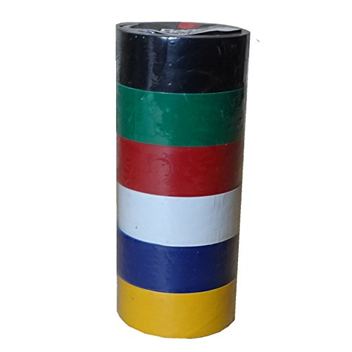 Beast 6 Rollen Farbiges Isolierband isolieren Isoband Klebeband 19mm x 2,5m Bunt PVC Set