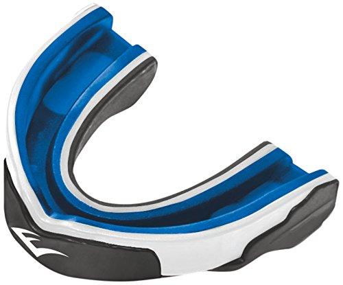 Everlast Boxen - Mund & Zahnschoner - Protector bucal de artes marciales, color negro/azul, talla única