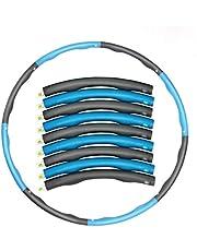BBGSFDC Aros de Hula ponderados para Adultos, Aros de Hula ponderados, Hula Hoop 6/7 neumáticos, Fitness, fáciles de ensamblar, Piezas móviles (Color : Bule)