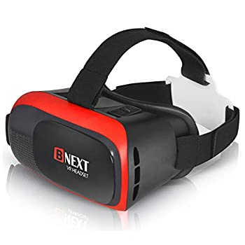 VR Headset Compatible with iPhone & Android - Universal Virtual Reality Goggles for Kids & Adults - Your Best Mobile Games 360 Movies w/ Soft & Comfortable New 3D VR Glasses  Red