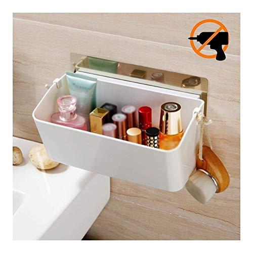 ZWJ Nail-free opbergplank met zelfklevende gemakkelijk te monteren badkamer wandmontage wastafel muur opknoping douche Caddy mand Vanity Rack voor keuken Dorm IC