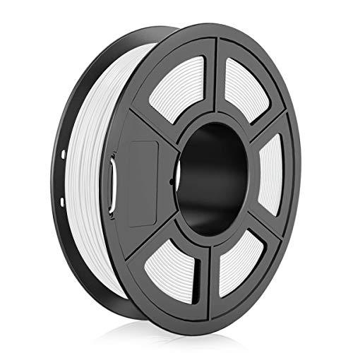 TPU 3D Printer Filament 1.75mm, Dimensional Accuracy +/- 0.03 mm, 0.5 Kg Spool, Flexible White