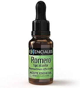 Essenciales - Aceite Esencial de Romero Alcanfor, 100% Puro, 30 ml   Aceite Esencial Rosmarinus Officinalis