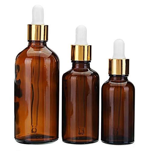 10/20/30/50 / 100mL - 100ml Botella de vidrio ámbar marrón