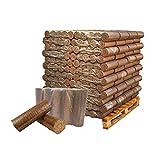 Briketts aus Buche XXL: 960 kg Palette | Hartholz | rund ohne Loch | Buchenbriketts, Holz-Briketts, Hartholzbriketts