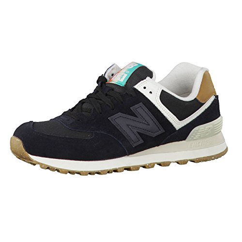 New Balance Damen 574 Global Surf Sneaker, Schwarz (Black), 36.5 EU
