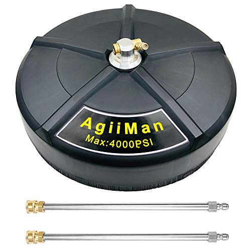 AgiiMan Pressure Washer Surface Cleaner - 16'' Power Washer Attachments, 15-inch Gas Pressure Washer Surface Cleaning Tools, 4200 PSI