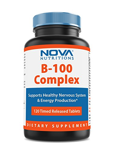 Nova Nutritions B-100 Vitamin B Complex 120 Time Released Tablets